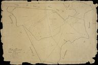 Plan cadastral, section B2 par Fauvel, 1835 (AD Somme ; 3P 1461/4).