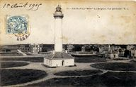 L'ancien phare de Brighton avant sa destruction en 1944, carte postale, 1er quart 20e siècle (coll. part.).