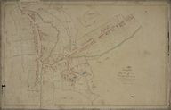 Le village, plan cadastral, section D1, par Blanchet, 1833 (AD Somme ; 3P 1307/7).