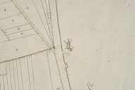 Plan cadastral, section C (détail 4) par Mercher, 1834 (AD Somme ; 3P 1619/5).