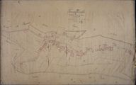 Le village, plan cadastral, section B2, par Fauvel et Mercher, 1835 (AD Somme ; 3P 1361/4).