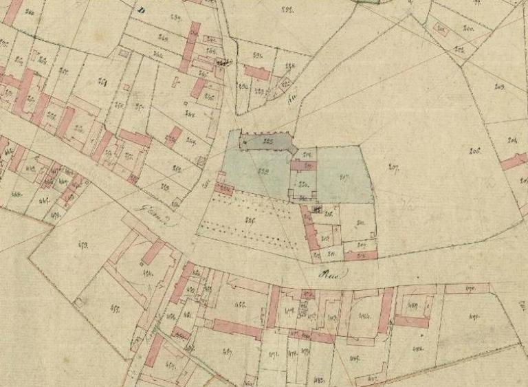 Plan cadastral, section A, du Chef-lieu, avant 1827 (AD Somme ; 3P 1764/2).