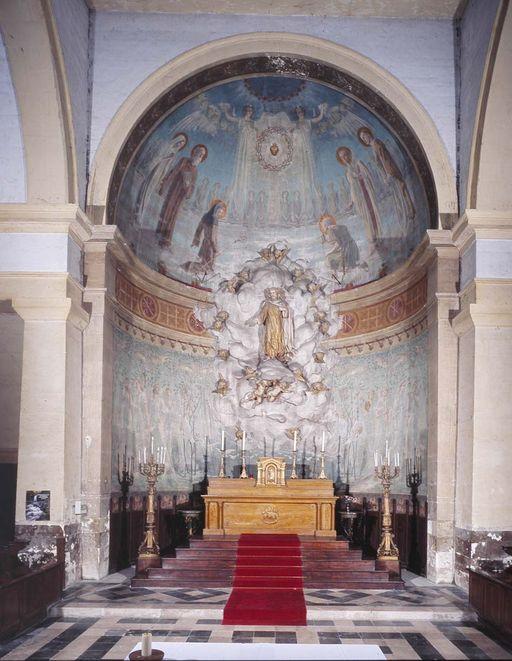 D cor de l 39 abside gloire et peintures de gustave riquet for L inventaire du mobilier