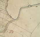 Plan cadastral, section A1 (détail) par Mercher, 1834 (AD Somme ; 3P 1619/2).
