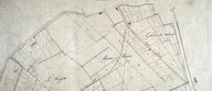 Plan cadastral, section C (détail 1) par Mercher, 1834 (AD Somme ; 3P 1619/5).