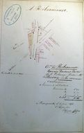 Plan partiel du village, par Florent Housse, 1856 (AD Somme ; 99 O 3216).