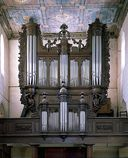 Ensemble du grand orgue à positif et de la tribune d'orgue