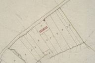 Plan cadastral, section C (détail 3) par Mercher, 1834 (AD Somme ; 3P 1619/5).
