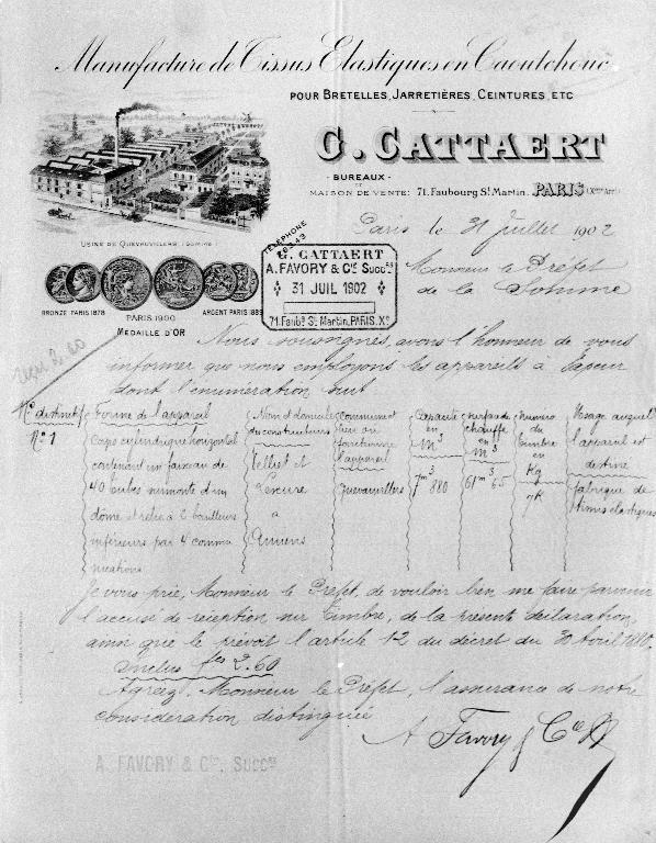 0b9936b433 Vue cavalière de l'usine Cattaert, vers 1902 (AD Somme ; M 96857 ...