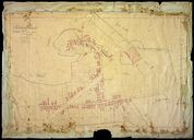 Le village, plan cadastral, section B1, par Fauvel, 1835 (AD Somme ; 3P 1461/3).
