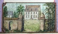 Havernas, manoir, aquarelle du début du 19e siècle (archives privées).
