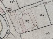 Détail du plan cadastral, section C, par Carette, 1832 (AD Somme ; 3P 1447/5).