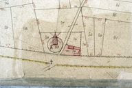 Plan cadastral, section B (détail) par Mercher, 1834 (AD Somme ; 1619/4).