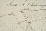 Plan cadastral, section C (détail 2) par Mercher, 1834 (AD Somme ; 3P 1619/5).
